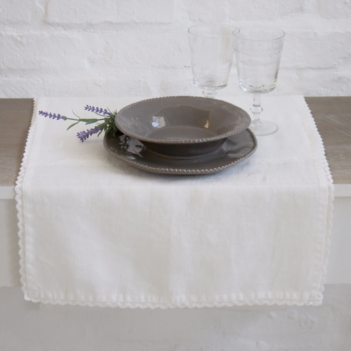 Great Marina Off White Table Runner. Hover To Zoom