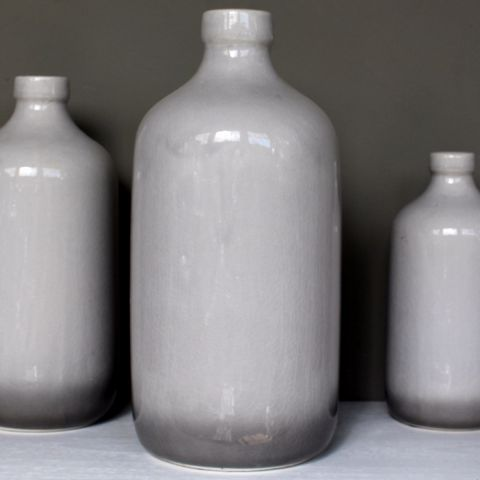 Grey Ombre Vase, Large