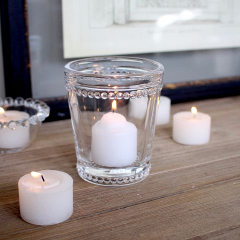 Dotted Glass Candle Holder, Set of Three