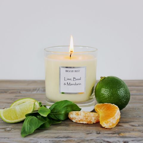 Luxury Scented Candle, Lime, Basil & Mandarin
