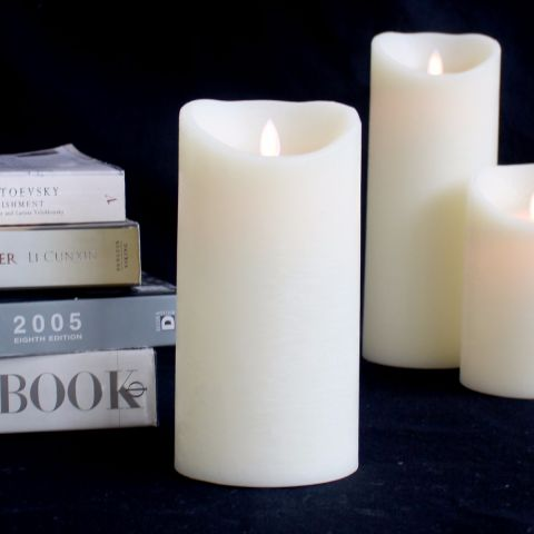 LED FLAME-LESS FLICKER CANDLE 20cm x 10cm