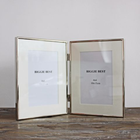 Nickel Double Photo Frame
