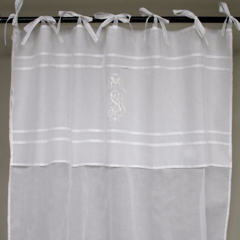 Crown Embroidery Voile Curtain Panel