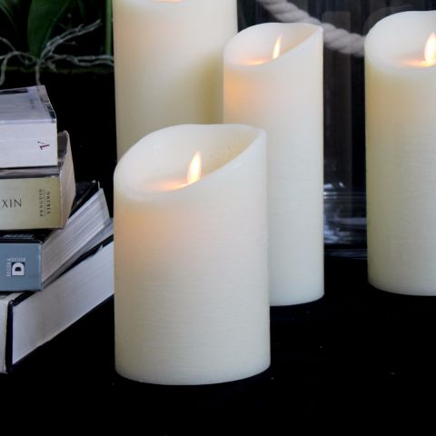 LED FLAME-LESS FLICKER CANDLE 15cm x 10cm