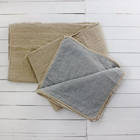 Vika Double Sided Washed Linen Quilt