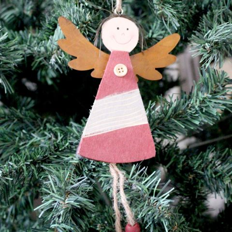 Red Angel Tree Decoration, Large