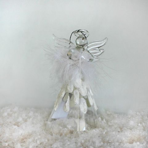 Feather Glass Angel