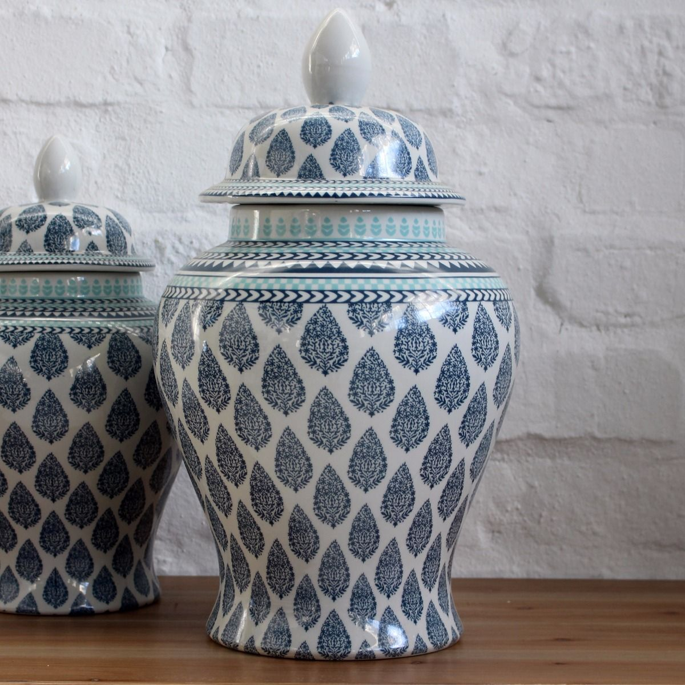 blue janna ginger jar large