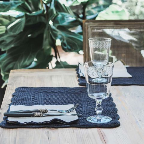 CHARCOAL VELVET PLACEMAT - SET OF 2