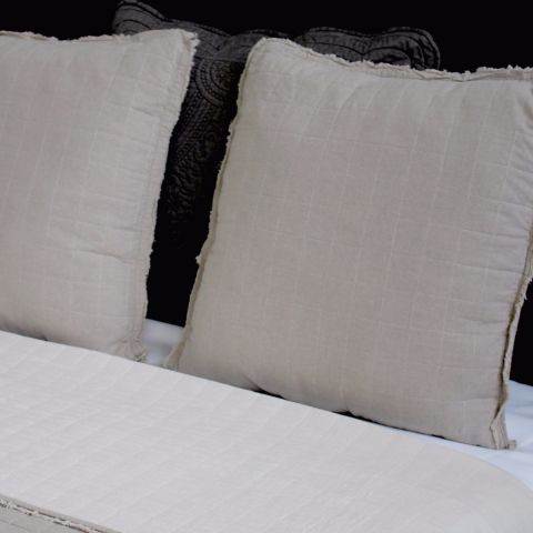 Elena Washed Pillow Sham Cover -  Linen