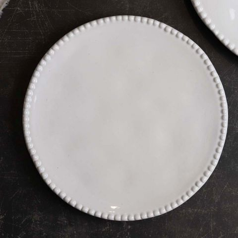 White Annmarie Side Plates -Set of 4