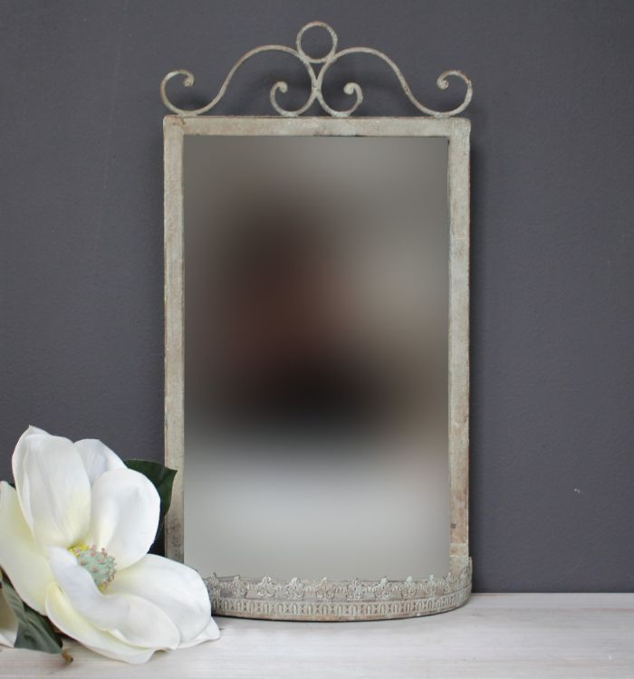 LARGE WALL MIRROR WITH SHELF