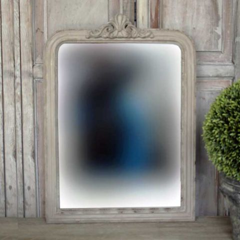 Rusty Mastic French Country Mirror