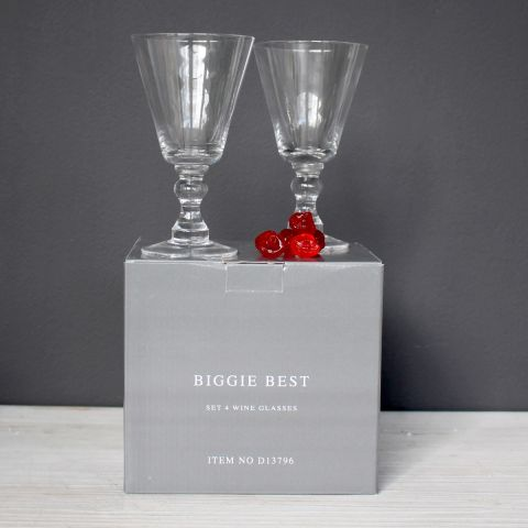 SET OF 4 WINE GLASSES - BOXED