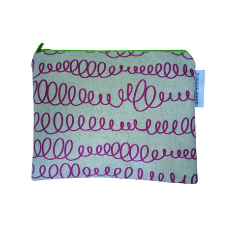 SCRIBBLES PINK LIGHT COSMETIC BAG
