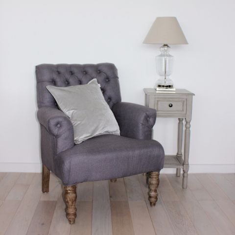 Anthony Linen Armchair, Heather Grey